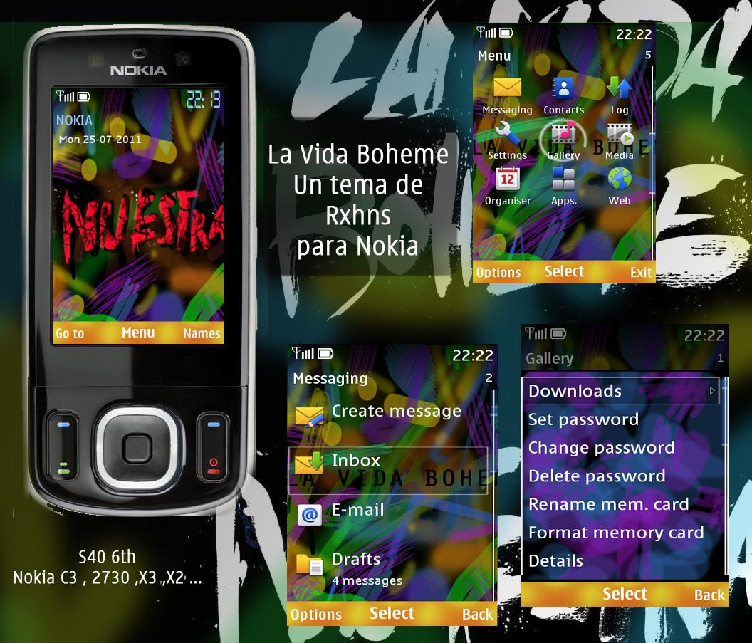 Dise O Nuestra En Un Tema Para Celulares Nokia